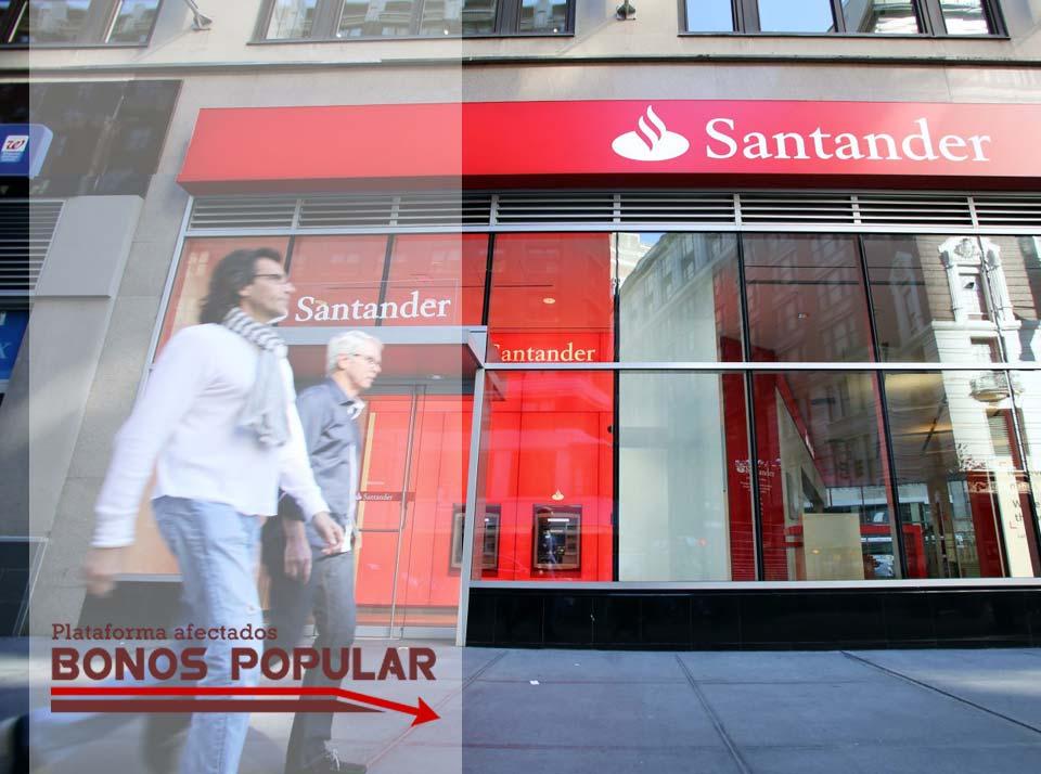 SE CONSUMA LA OFERTA TRAMPA DE BANCO SANTANDER